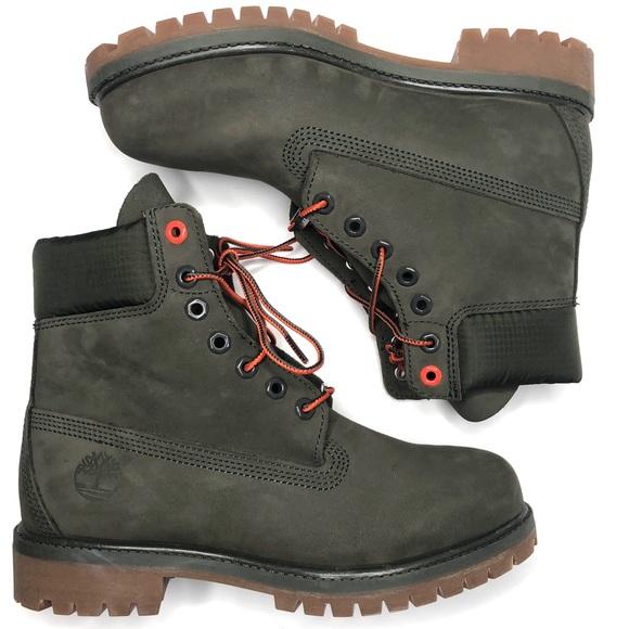 "sleek for whole family order online Timberland Premium 6"" Premium Boots Khaki Green"
